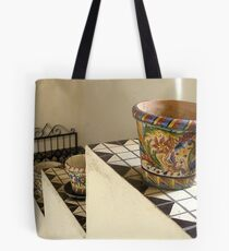 """""""Pots on Tiers on Stairs"""" Tote Bag"""
