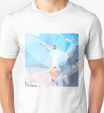 Air Superiority Blue Abstract Low Polygon Background Slim Fit T-Shirt