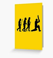 evolution of cricket Greeting Card