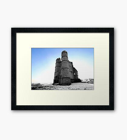 Donnington Castle In The Snow Framed Print