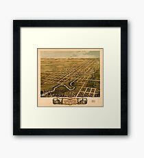 Panoramic Maps Bird's eye view of the city of Rochester Olmsted County Minnesota 1869 Framed Print