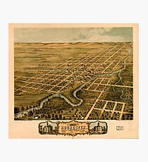Panoramic Maps Bird's eye view of the city of Rochester Olmsted County Minnesota 1869 Photographic Print