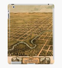 Panoramic Maps Bird's eye view of the city of Rochester Olmsted County Minnesota 1869 iPad Case/Skin