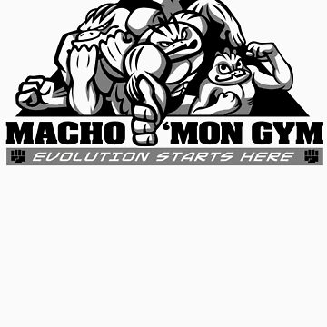 Macho'mon Gym by misskari