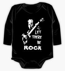 Body de manga larga para bebé camiseta ac dc