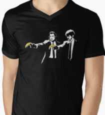 PULP FICTION BANANA. Men's V-Neck T-Shirt