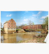 Bollinger Mill, located in Gape Girardeau County Poster
