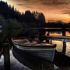 Golden Sunset over Loch Ard by Aj Finan