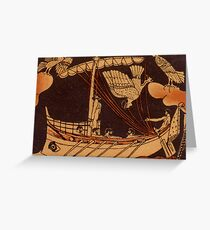 Odysseus with Sirens Greeting Card