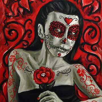 Day of the Dead Girl Painting 1 by rawjawbone