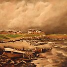 Cullercoats, England from an Engraving 1880 by Jsimone