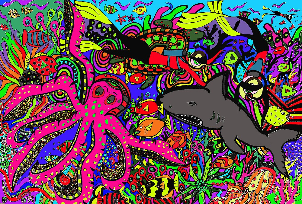 Under water world by Karen Elzinga