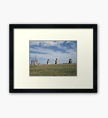 GRAIN ELEVATORS, RAPELGE, MT Framed Print