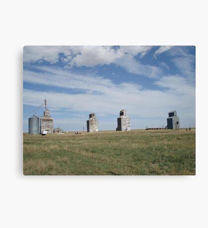 GRAIN ELEVATORS, RAPELGE, MT Canvas Print