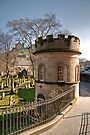 The Churchyard Watchtower at St Cuthbert's, Edinburgh by Christine Smith