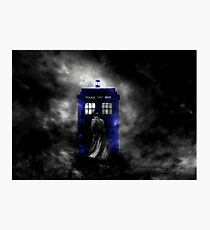 The Doctor and his blue box Photographic Print