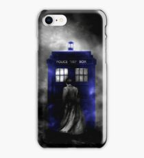 The Doctor and his blue box iPhone Case/Skin
