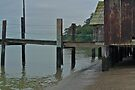 China Camp Pier & Buildings by Scott Johnson