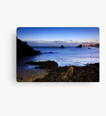 twilight at the beach  Canvas Print