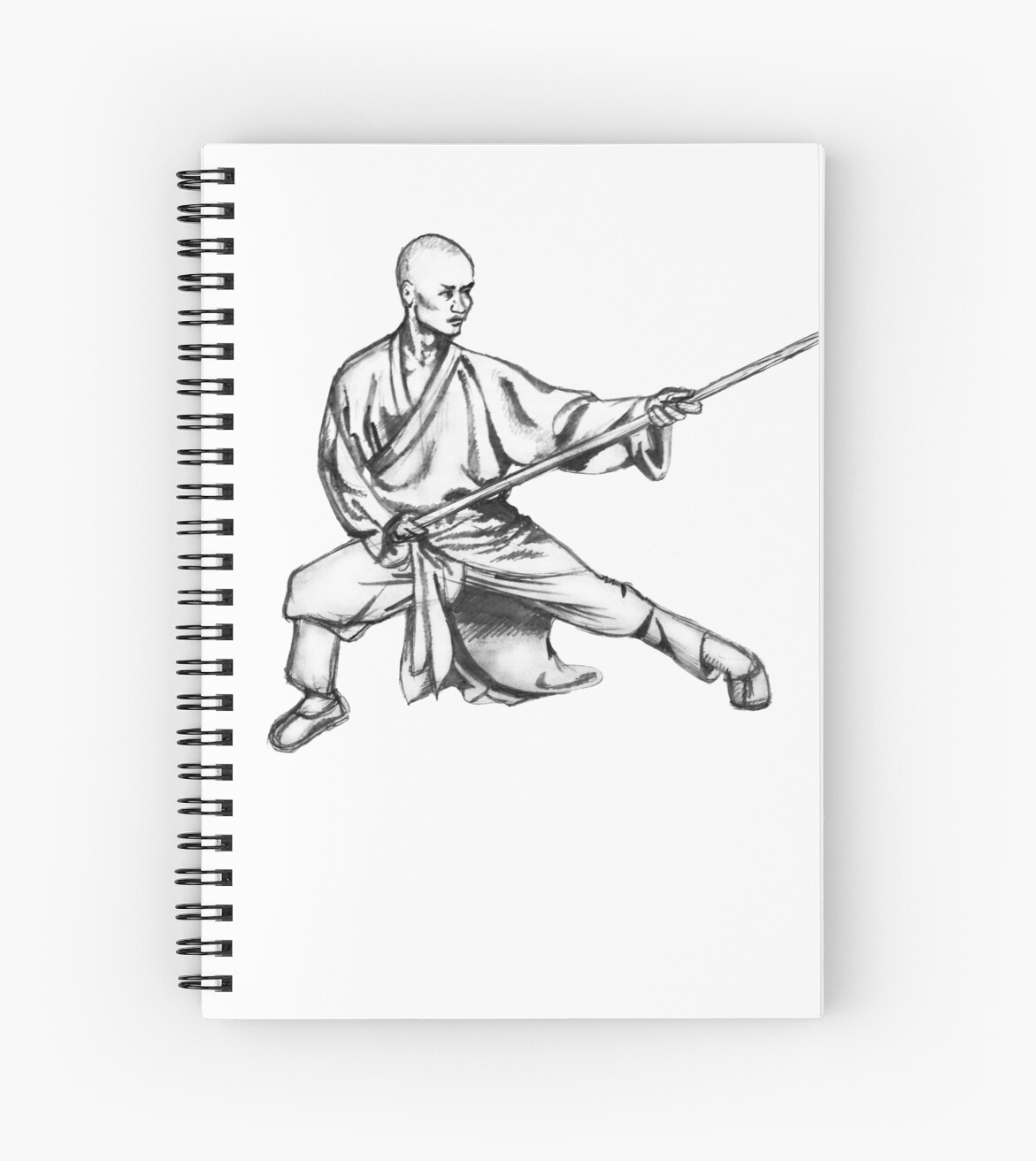 cuadernos de espiral shaolin warrior monk kung fu wushu de chris serong redbubble. Black Bedroom Furniture Sets. Home Design Ideas
