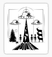 Martians Sticker