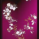 Sereen Abstract flower  by Yvon van der Wijk