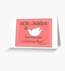 Nuns 50th Golden Jubilee Cards Greeting Card