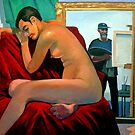 Artist with Nude Model by Guntis Jansons