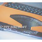 typewriter: happy birthday by Kim Jackman