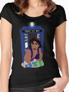 Doctor Who Aladdin mashup - Do you trust me? Women's Fitted Scoop T-Shirt