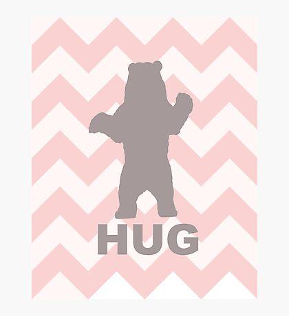 Bear Hug - Pink Photographic Print