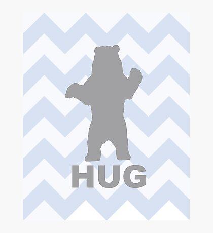 Bear Hug - Blue Photographic Print