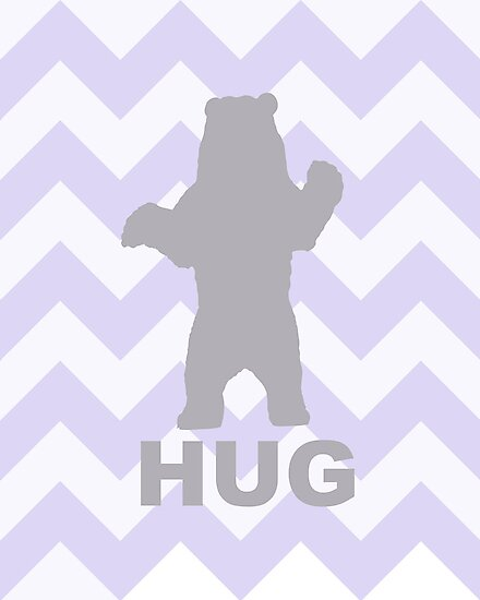 Bear Hug - Purple by Susan Tong