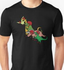 Roller Derby Dinosaurier Slim Fit T-Shirt