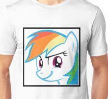 Rainbow Dash Challenge face Unisex T-Shirt