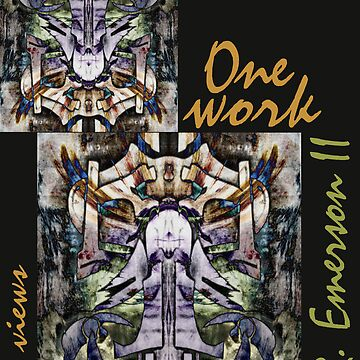 One work, Two Views - Commemorative Poster by L. R. Emerson II from the Upside-Down Art Movement; Upsidedownism, Topsy Turvy Art, Ambigram Art, or Masg Art  by emersonl