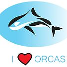 I Love Orcas T-Shirts, Hoodies, Cards, Phone Cases and More by Kgphotographics