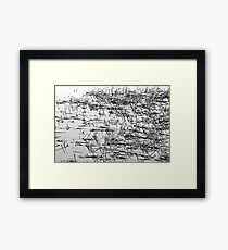 Sticks in the Water Black and White Abstract Framed Print