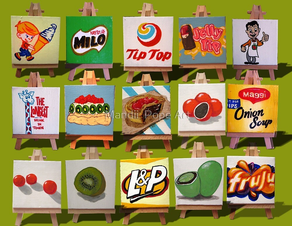 Quot Kiwiana Food And Drink Icons Quot By Kiwiana Art Mandii Pope