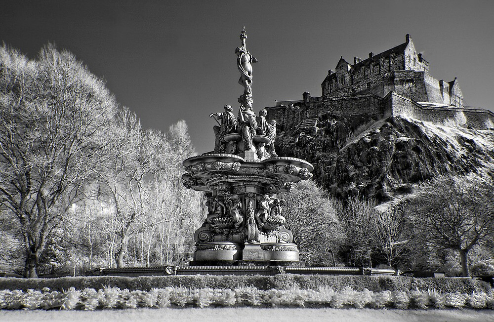 Edinburgh Castle & The Ross Fountain ( Please View Larger) by Don Alexander Lumsden (Echo7)