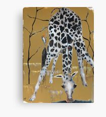 Bird and Giraffe Canvas Print
