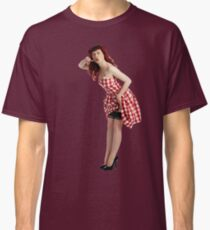 UK Pin Up Stephanie Jay Red Diner Classic T-Shirt