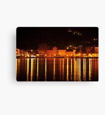 Riva del Garda at Night  Canvas Print