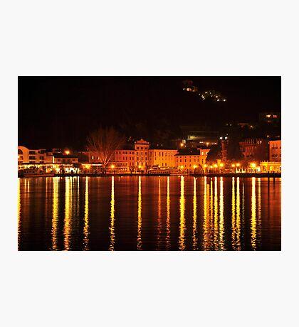 Riva del Garda at Night  Photographic Print