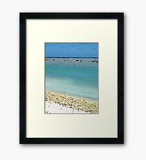 beach Rarotonga Framed Print