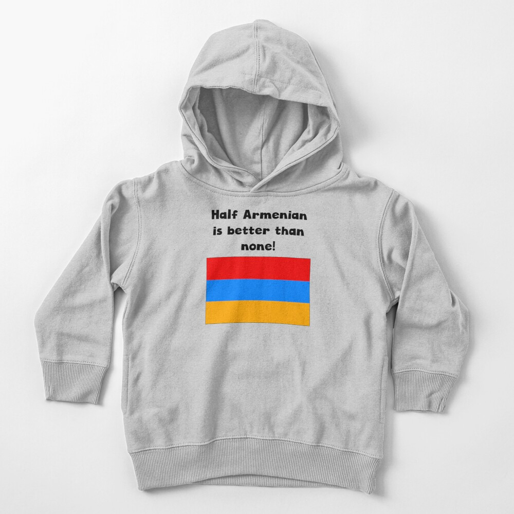 Half Armenian Is Better Than None Toddler Pullover Hoodie