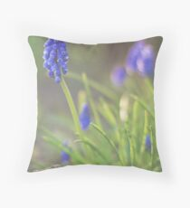 Muscari Clusters Throw Pillow