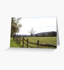 wooden fence in rural Pennsylvania Greeting Card