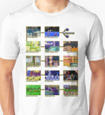Act 1 - Sonic The Hedgehog Retro Stages T-Shirt