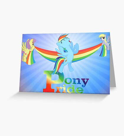 Pony Pride - with text Greeting Card